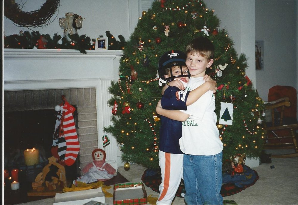 We always had music, games, and laughter in our little house on christmas. Oh, and brotherly love, of course!